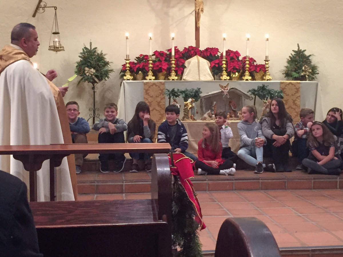 Children at Christmas Service